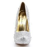 Argent Pierres Scintillantes 13,5 cm FELICITY-20 Chaussures femmes a talon