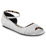 Argent Satin ANNA-03 grande taille chaussures ballerines