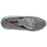 Argent Strass 14,5 cm Burlesque TEEZE-06RW pieds larges escarpins pour homme