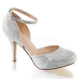 Argent Strass 9 cm COVET-03 Chaussures Escarpins Classiques