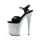 Argent paillettes 20 cm Pleaser FLAMINGO-809LG chaussure à talons de pole dance