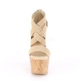 Bande brun 16,5 cm BEAU-669 sandales talon compensé en liège