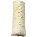 Beige 12 cm VICTORIAN-30 Bottines à Lacets Talons Hauts Femmes