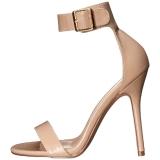 Beige 13 cm Pleaser AMUSE-10 sandales à talons aiguilles