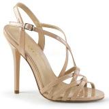 Beige 13 cm Pleaser AMUSE-13 sandales à talons aiguilles