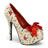 Beige 14,5 cm TEEZE-12-3 Chaussures pour femmes a talon