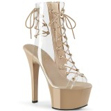 Beige 15 cm ASPIRE-600-30 bottines de pole dance