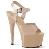 Beige 18 cm ADORE-708N Plateforme Chaussures Talon Haut