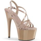 Beige 18 cm ADORE-713 pleaser sandales talon aiguille