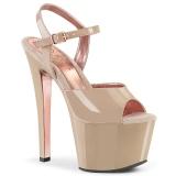 Beige 18 cm SKY-309TT pleaser sandales à semelles dorée