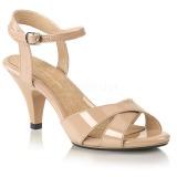 Beige 8 cm Fabulicious BELLE-315 sandales petit talon bas