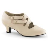 Beige Mat 5 cm DAME-02 Escarpins Chaussures Femme
