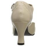 Beige Mat 7,5 cm FLAPPER-26 Escarpins Chaussures Femme