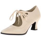 Beige Mat 7 cm VICTORIAN-03 Escarpins Chaussures Femme