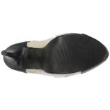 Beige Similicuir 13,5 cm CHLOE-11 grande taille escarpins femmes