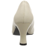 Beige Similicuir 7,5 cm JENNA-01 grande taille escarpins femmes