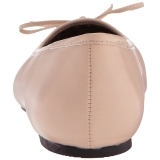 Beige Similicuir ANNA-01 grande taille chaussures ballerines