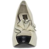 Beige Suede 13,5 cm LOLITA-10 Escarpin Bout Ouvert