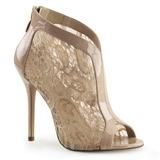 Beige Tissu 13 cm AMUSE-48 Chaussures Escarpins de Soirée