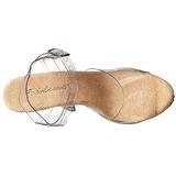 Beige Transparent 13 cm LIP-108 Plateforme Chaussures Talon Haut
