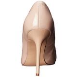 Beige Verni 10 cm CLASSIQUE-20 Escarpins Talon Aiguille Femmes