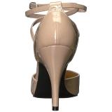 Beige Verni 10 cm DREAM-408 grande taille escarpins femmes