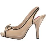 Beige Verni 11,5 cm PINUP-10 grande taille sandales femmes
