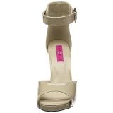 Beige Verni 12,5 cm EVE-02 grande taille sandales femmes