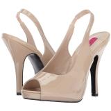 Beige Verni 12,5 cm EVE-04 grande taille sandales femmes