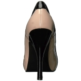 Beige Verni 12,5 cm EVE-07 grande taille escarpins femmes