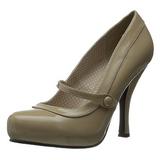 Beige Verni 12 cm CUTIEPIE-02 Escarpins Chaussures Femme