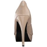Beige Verni 13,5 cm CHLOE-01 grande taille escarpins femmes