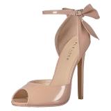 Beige Verni 13 cm SEXY-16 Chaussures Escarpins Classiques
