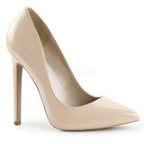 Beige Verni 13 cm SEXY-20 Escarpins Chaussures Femme