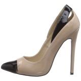Beige Verni 13 cm SEXY-22 Chaussures Escarpins Classiques