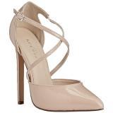 Beige Verni 13 cm SEXY-26 Chaussures Escarpins Classiques