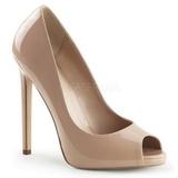 Beige Verni 13 cm SEXY-42 Chaussures Escarpins Classiques