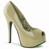 Beige Verni 14,5 cm Burlesque TEEZE-22 Escarpins Talon Aiguille Femmes