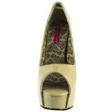Beige Verni 14,5 cm TEEZE-22 Escarpins Talon Aiguille Femmes