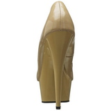 Beige Verni 15 cm Pleaser DELIGHT-685 Escarpins Haut Talon