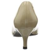 Beige Verni 6,5 cm KITTEN-01 grande taille escarpins femmes