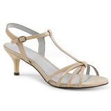 Beige Verni 6 cm KITTEN-06 grande taille sandales femmes