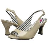 Beige Verni 7,5 cm JENNA-02 grande taille sandales femmes