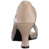Beige Verni 7,5 cm JENNA-03 grande taille escarpins femmes