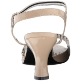 Beige Verni 7,5 cm JENNA-09 grande taille sandales femmes