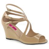 Beige Verni 7,5 cm KIMBERLY-04 grande taille sandales femmes