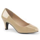 Beige Verni 8 cm DIVINE-420W Escarpins Chaussures Femme