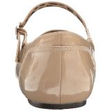 Beige Verni ANNA-02 grande taille chaussures ballerines