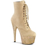 Beige glitter 18 cm ADORE-1020FSMG exotic bottines de pole dance