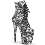 Billets dun dollar Toile 20 cm FLAMINGO-1020DP pleaser bottines à plateforme